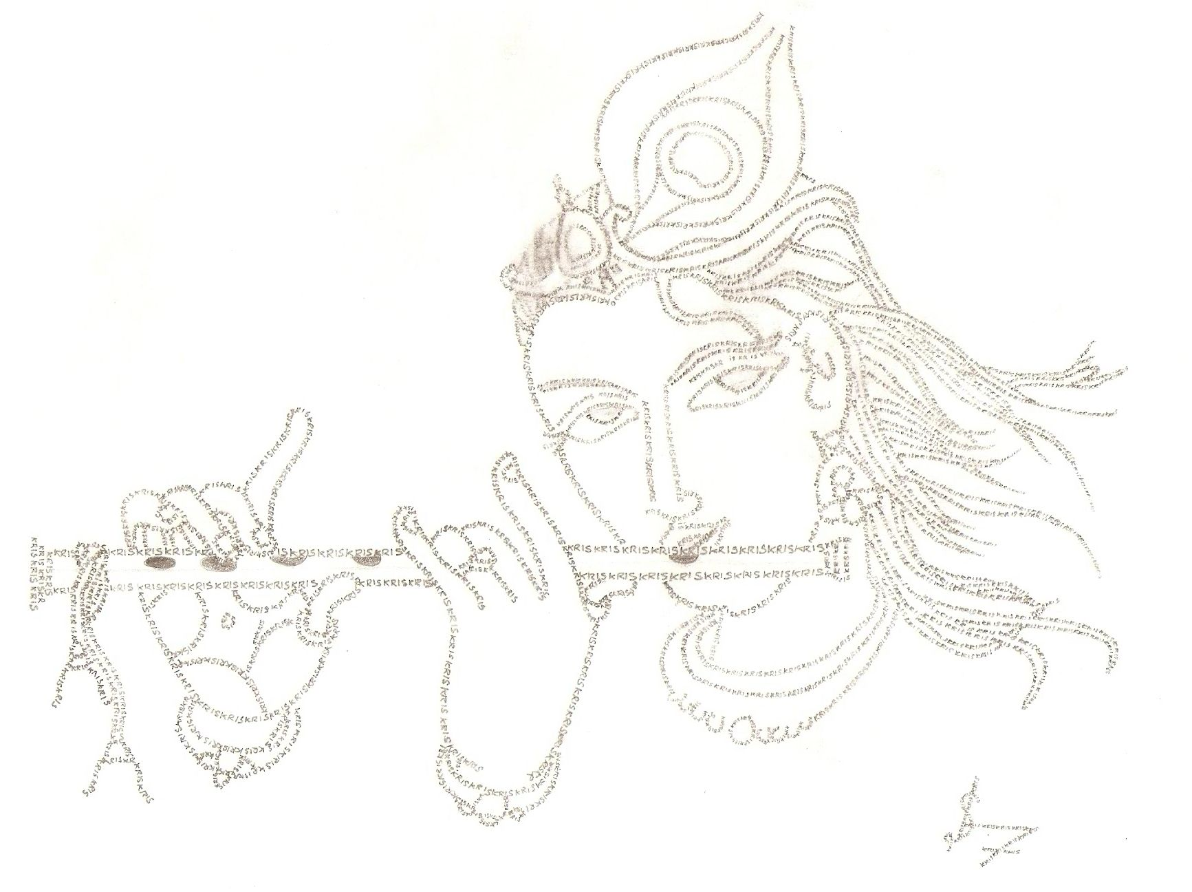 Line Art Anime : Images of line drawing krishna google search