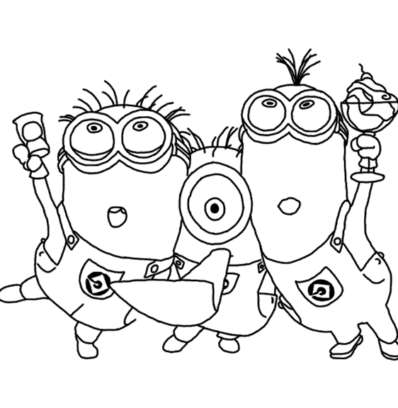 Despicable Me Coloring Pages3 Coloring Pages Pinterest