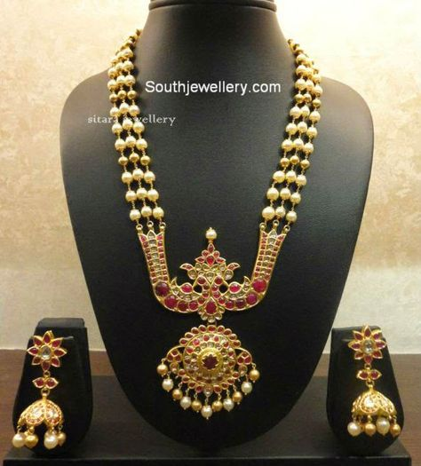 South Sea Pearls Haram with Peacock Pendant jewellery Pinterest