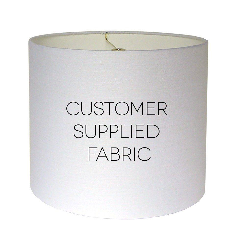 Medium Custom Lamp Shade, Drum Lampshade, Tapered Lamp