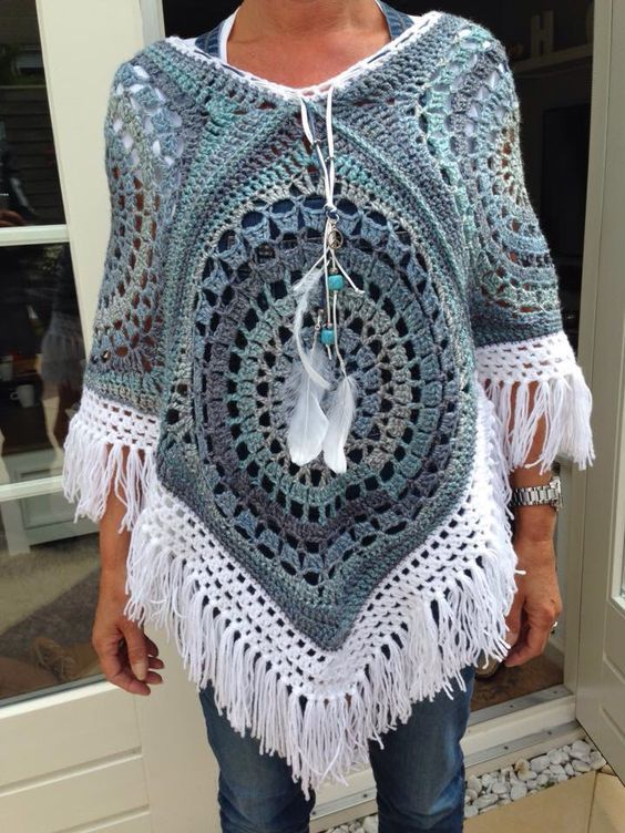 Crochet poncho | Ponchos, Tejido y Ganchillo