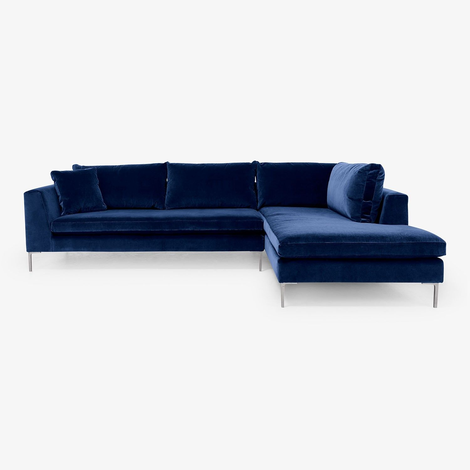 Exclusively at ABC, the sectional sits handsomely on slim, exposed ...