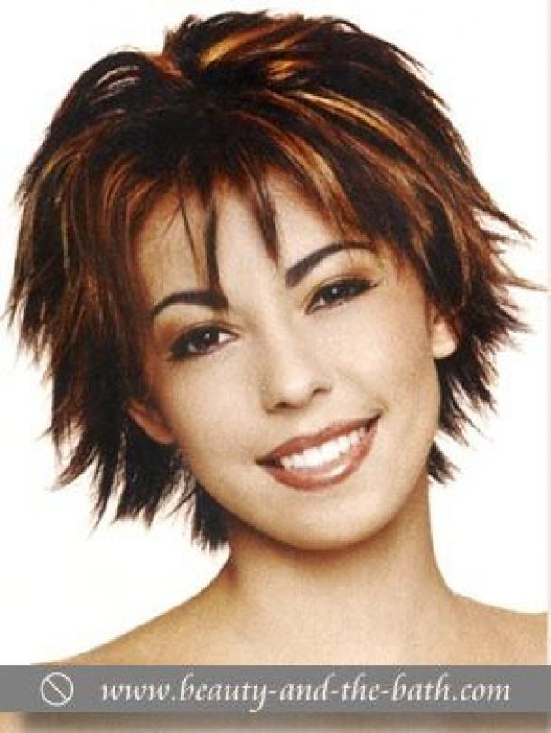 Choppy Hairstyles For Older Women Short Choppy Layered Hairstyle