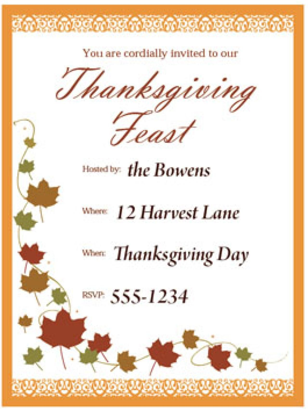 Pin By Kalonil On Thanksgiving Invitations
