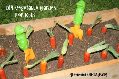 Vegetable Garden Ideas For Kids greene acres hobby farm: diy fake vegetable garden for kids