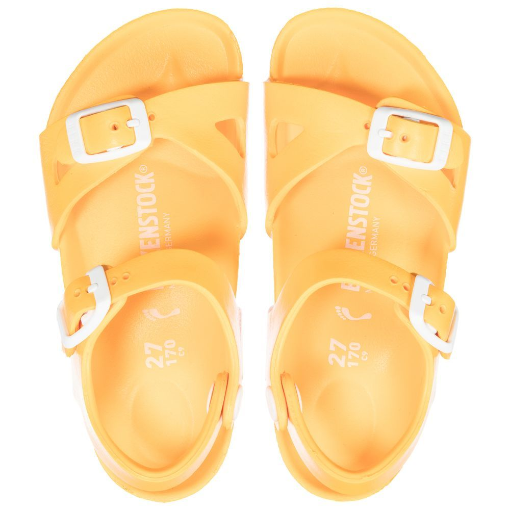 8883d935a88 Birkenstock Yellow Rio Plastic Sandals at Childrensalon.com