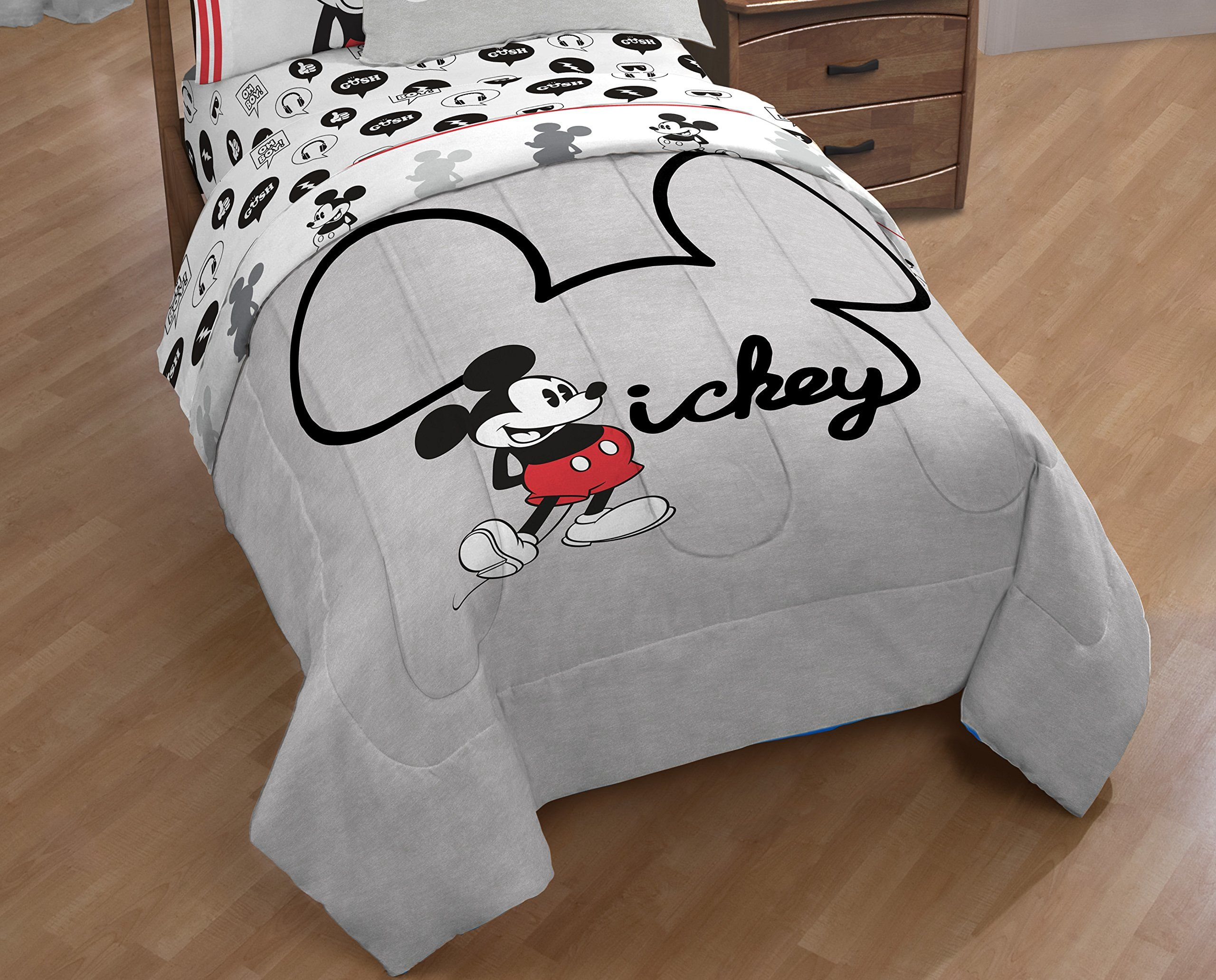 Disney Mickey Mouse Jersey Reversible Twinfull Comforter And Sham 2