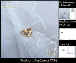 Tying The Knot 26   Weddings   Handfastings   3D Decoupage   Matching Insert   Tag  on Craftsuprint - View Now!
