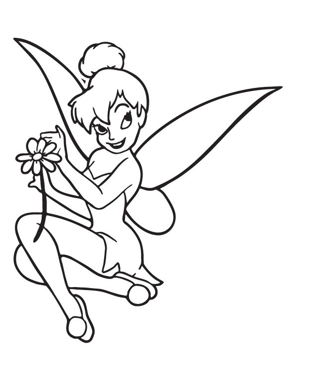 Tinkerbell Coloring Printouts