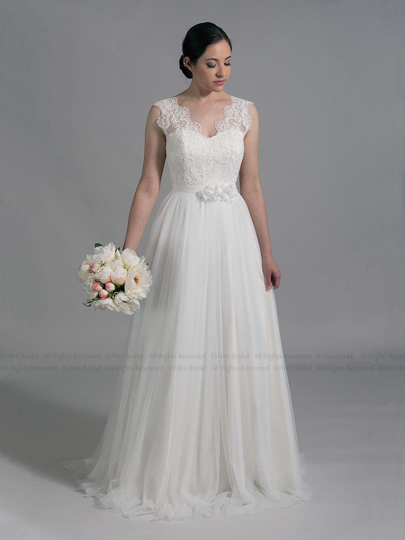 Lace wedding dress boho wedding dress bohemian wedding dress lace