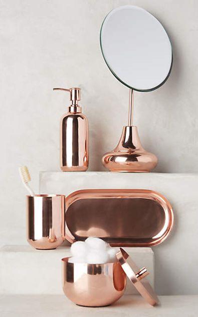 Copper Gleam Bath Collection Anthrofave Rose Gold Decor Gold Bathroom