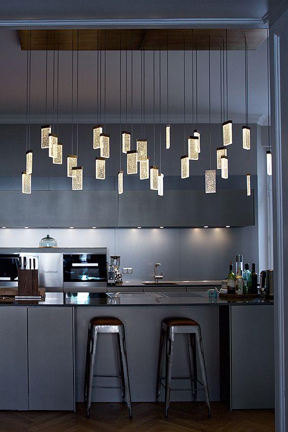 Grand Cru Canopy Light Fixture 28 Grand Cru Glass Pendants Above