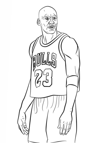 Michael Jordan coloring page from NBA category. Select from 25105 ...