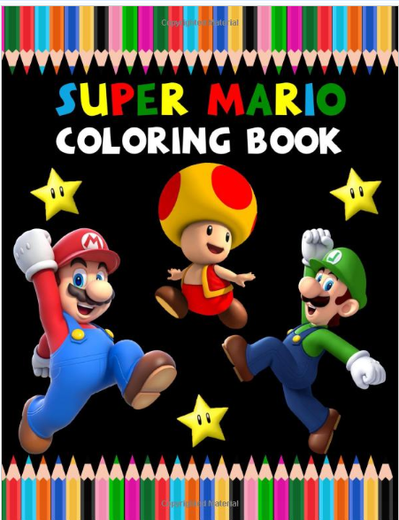 Super Mario Coloring Book Best Mario Coloring Book Is Full Of High Quality Illustrations In Black Coloring Books Amazon Coloring Books Super Mario Run
