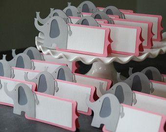 Elephant Place Cards, Elephant Seating Cards, Elephant Baby Shower ...