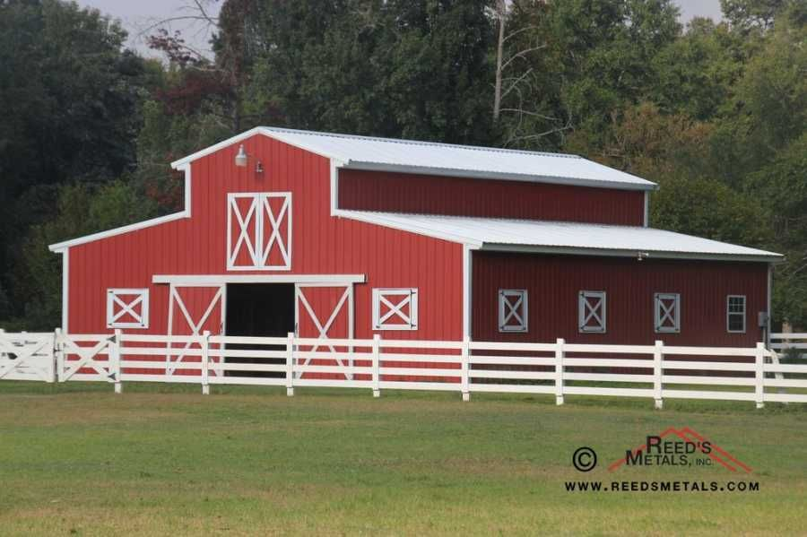 Red Pole Barn Available In 20 Colors Free Quote At Www