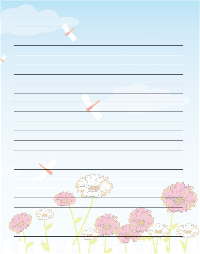 Free Printable Kids Motheru0027s Day Writing Paper. Description From Prek 8.com.  Free Printable Lined Writing Paper