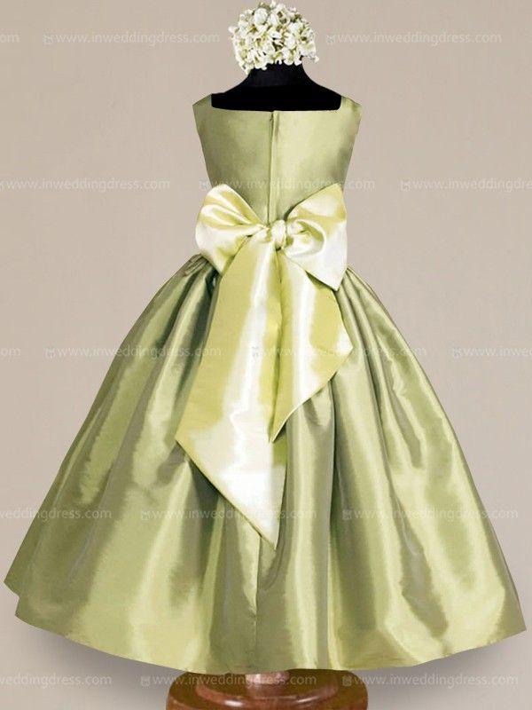 9bbf0611103 flower girl dress Pistachio   Light Pistachio Simple Flower Girl Dresses