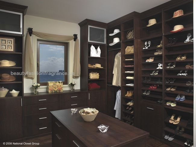 Luxury Closet Oragnizer System Gallery   The Closet Doctor Dark Finish  Closet Organizer With Plenty Of