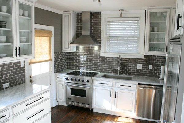 kitchen tile backsplash ideas back splashes Pinterest White