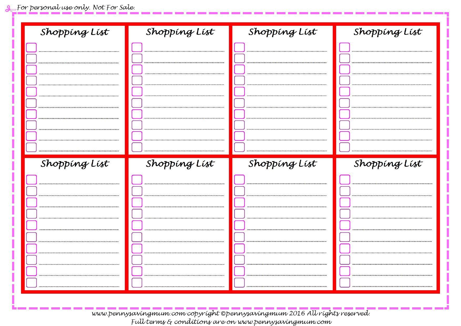 Shopping Lists Short