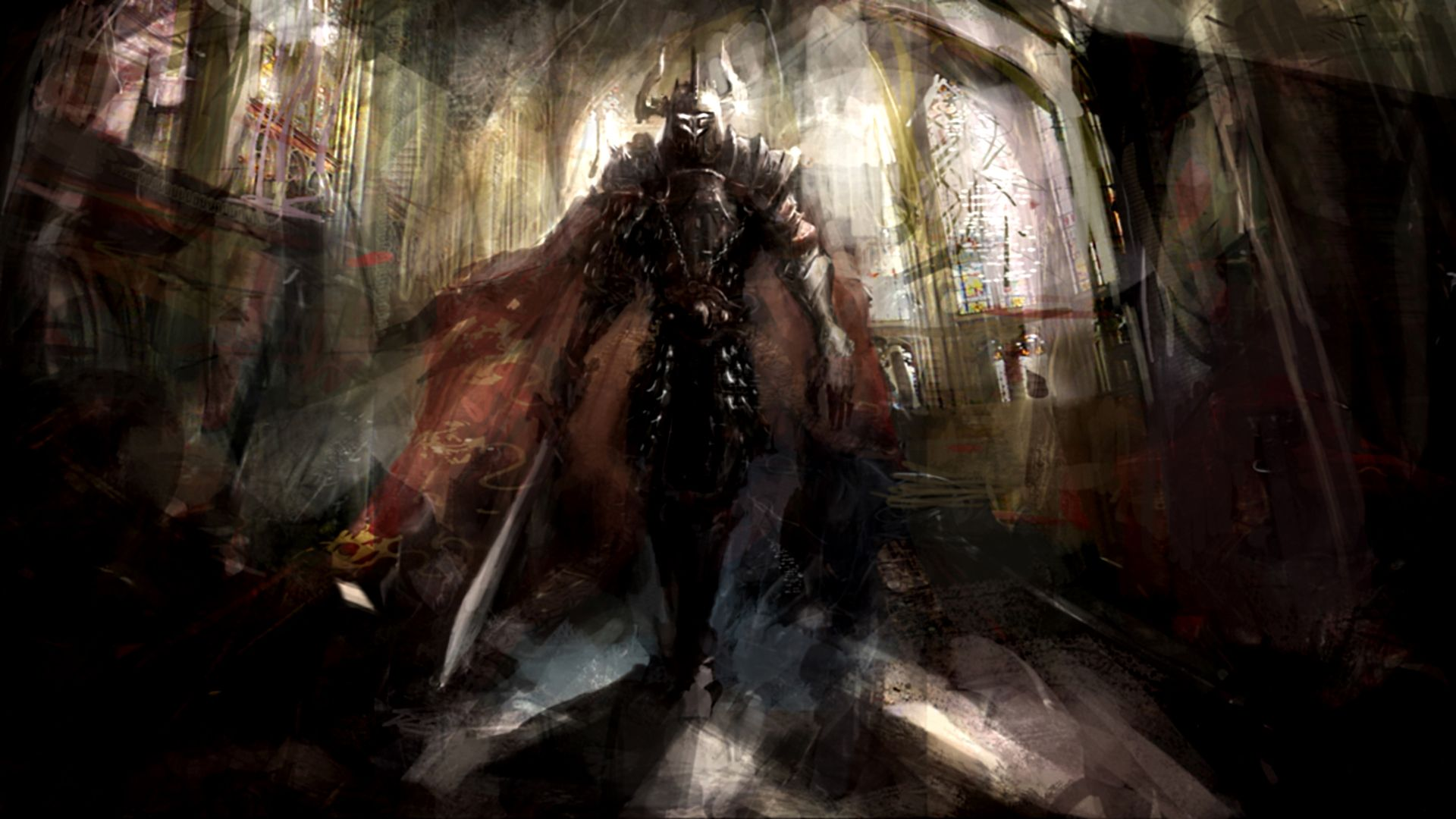 Fantasy Warrior The Dark Knight HD Wallpaper