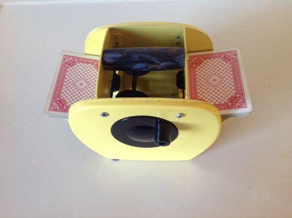 Vintage Yellow Card Shuffler Etsy Vintage Yellow Vintage Yellow