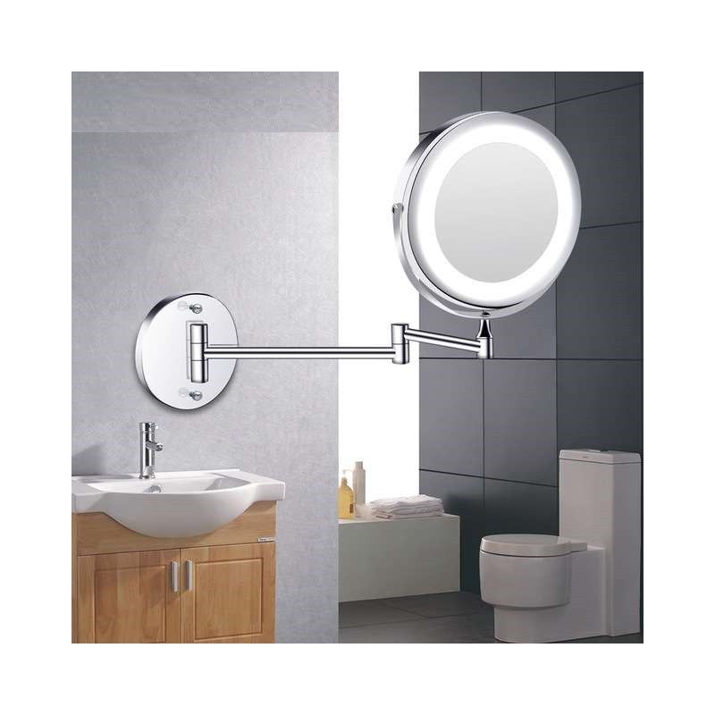 Led Makeup Mirror With Light Folding Double Wall Mount Vanity Mirror 10x Usb Charging Touch Di In 2020 Mirror With Lights Makeup Mirror With Lights Wall Mounted Vanity