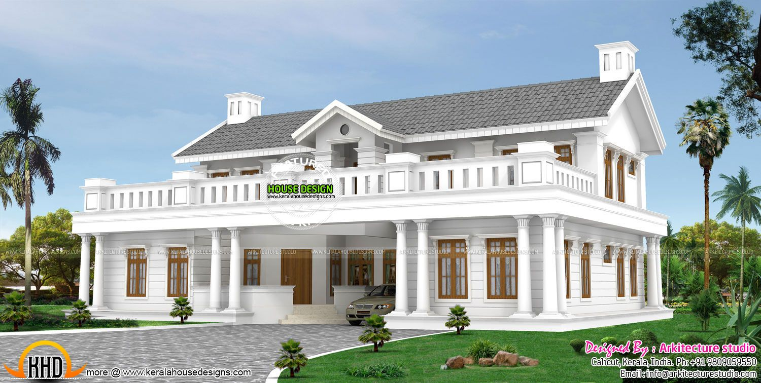 Colonial house kerala style joy studio design gallery for Colonial style home design in kerala