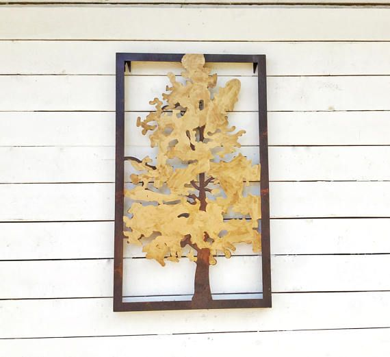 Brown Wall Decor Metal Wall Decor Metal Tree Wall Art Tree Rustic ...