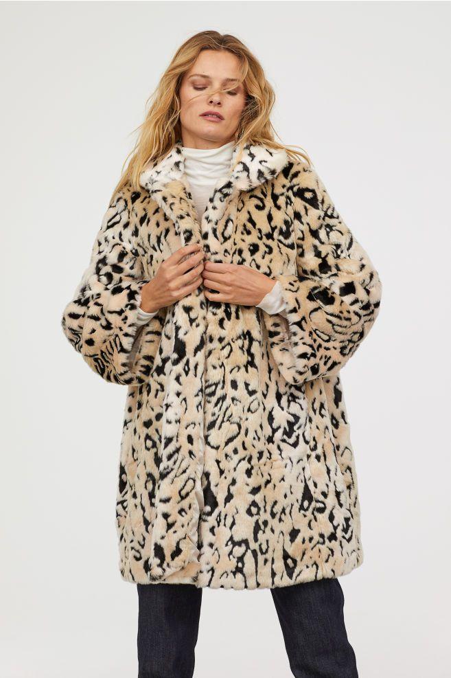 75ebb8972a27 Faux fur coat - Light beige Leopard print - Ladies