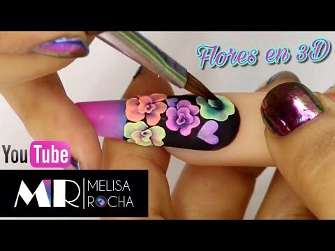 Punta Semiesqueleto 3d Guia De Flores Youtube Nail Tutorial Videos Nail Art Diy Nail Art Tutorial