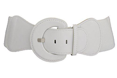New Women Belt Fashion Elastic White Polka Dot Hip Waist Trendy Plus Size M L XL