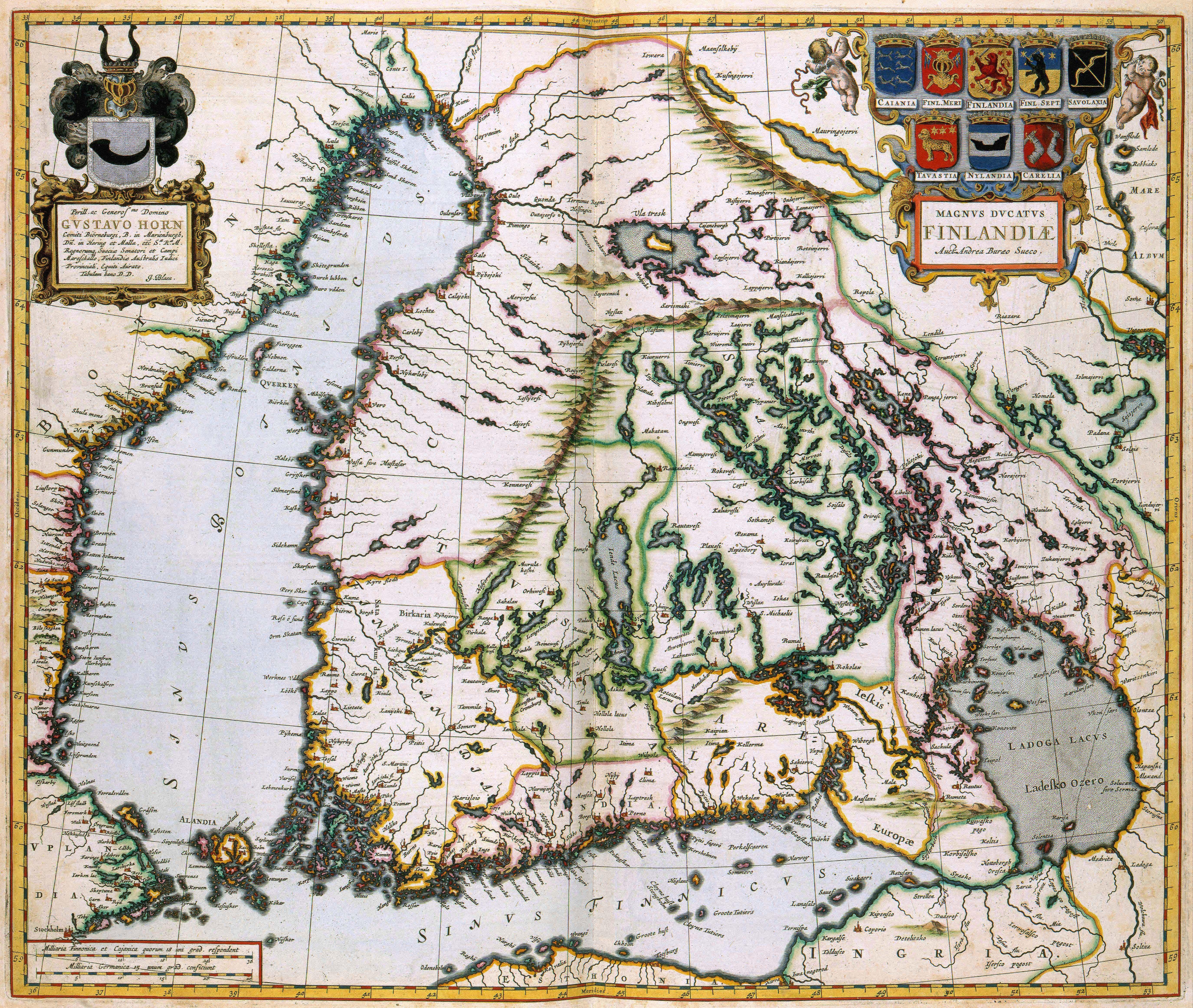 Finland atlas van der hagen 1662 plattegronden cartography explore old maps finland and more gumiabroncs Choice Image