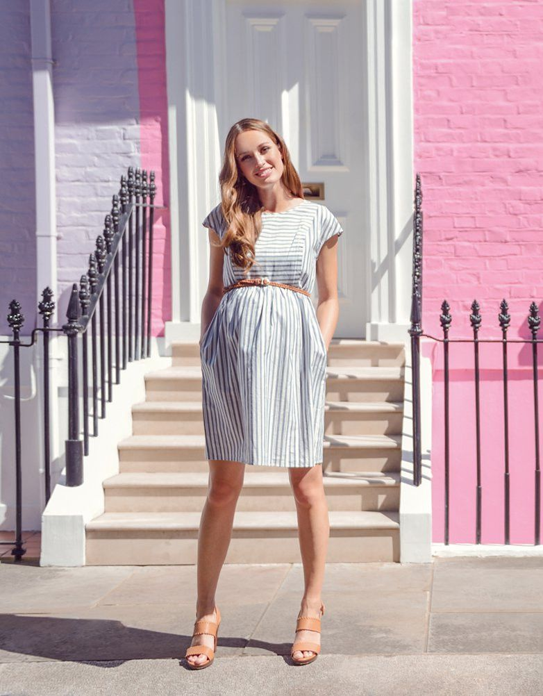 45e041e5c426c Cotton Stripe Maternity & Nursing Dress | My Style | Maternity ...