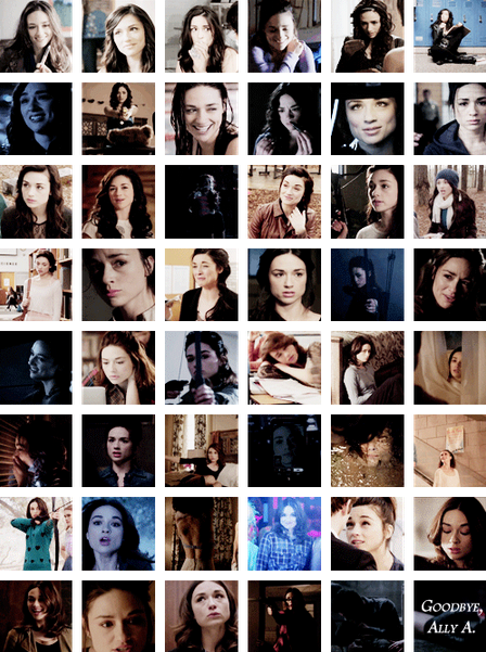 Allison Argent in every episode of Teen Wolf.