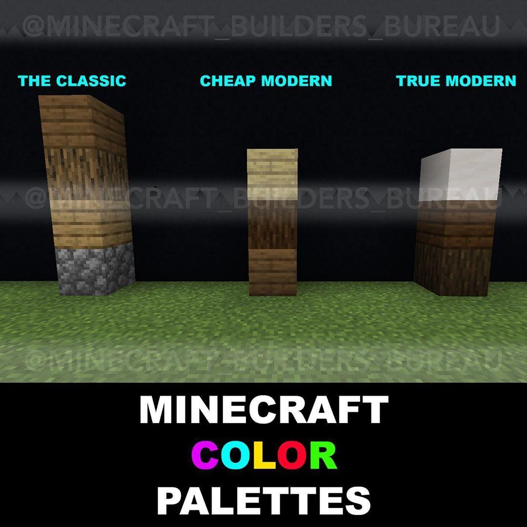 "Minecraft Builders Bureau on Instagram: ""Some basic block color"