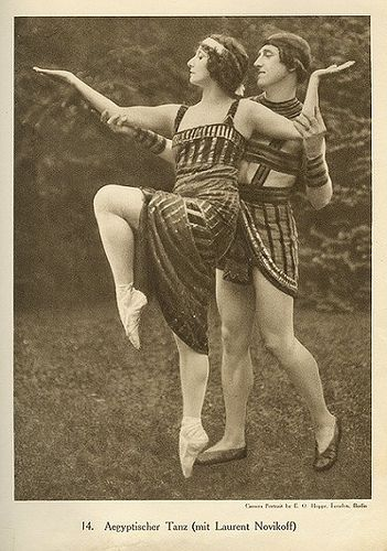 Anna Pavlova and Laurent Novikoff, Egyptian dance, photographed by E.O. Hoppé.