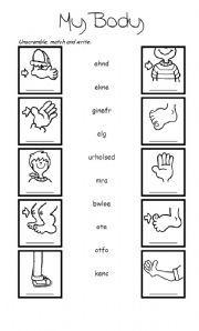 Обучение английскому языку листы: для лица и тела   Olena ...