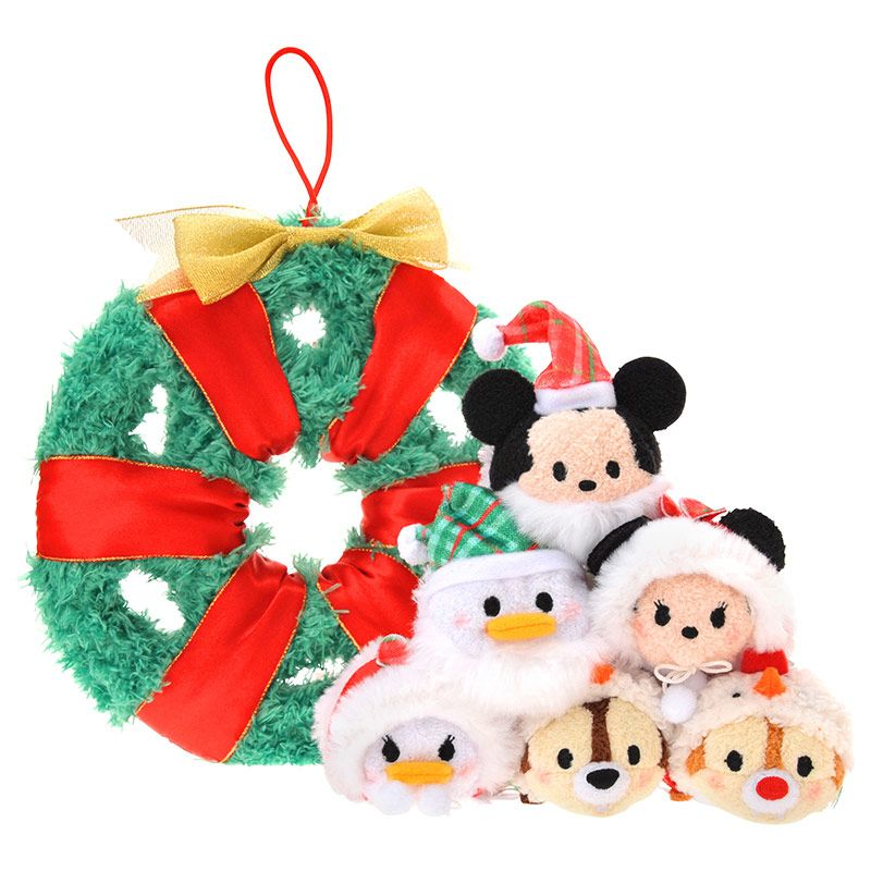 Tsum Tsum Christmas Wreath - Mickey, Minnie, Donald, Daisy, Chip ...