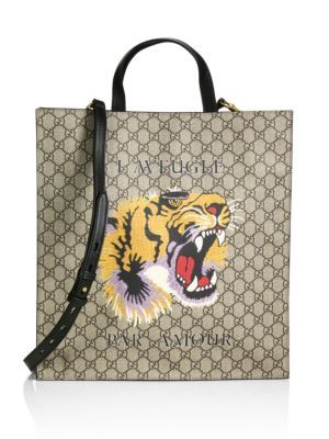 5b58decacbc GUCCI Gg Supreme Tiger Tote.  gucci  bags  shoulder bags  hand bags  canvas   tote