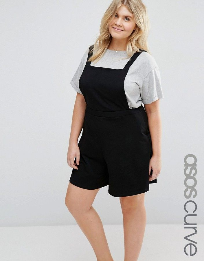 ASOS Curve ASOS CURVE Jersey Pinafore Romper * You can find out more  details at the