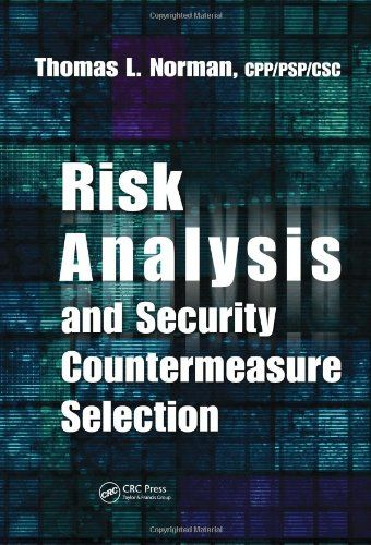 Risk Analysis And Security Countermeasure Selection By Thomas L