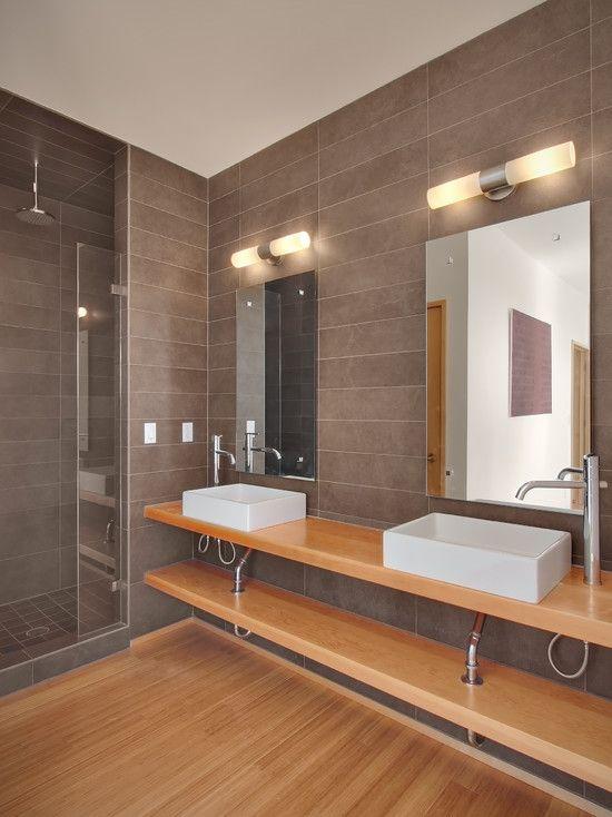 Modern Bathroom Gray And Brown