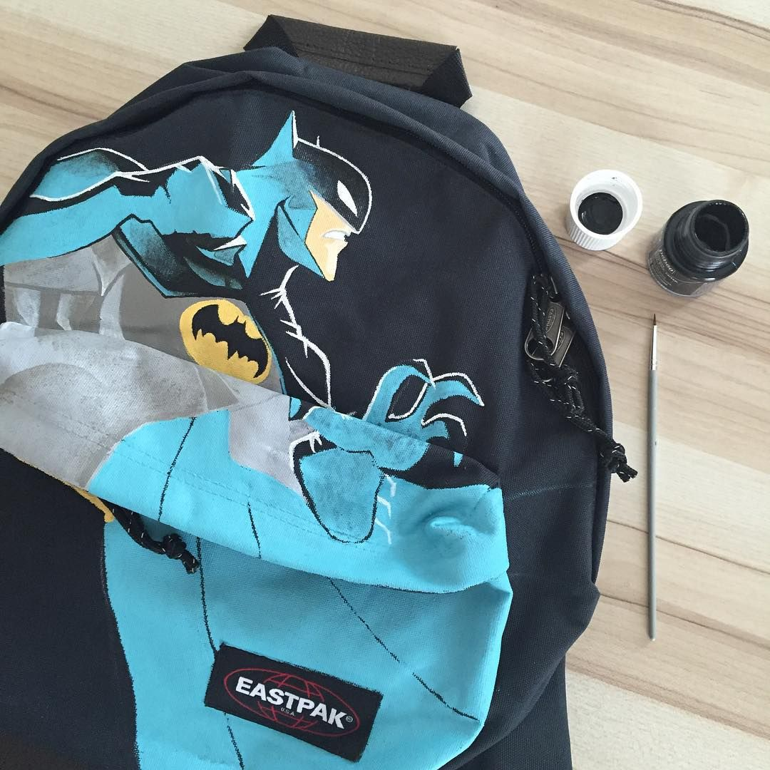 customised padded pak 39 r featuring batman by tizieu on instagram eastpak backpack rucksack