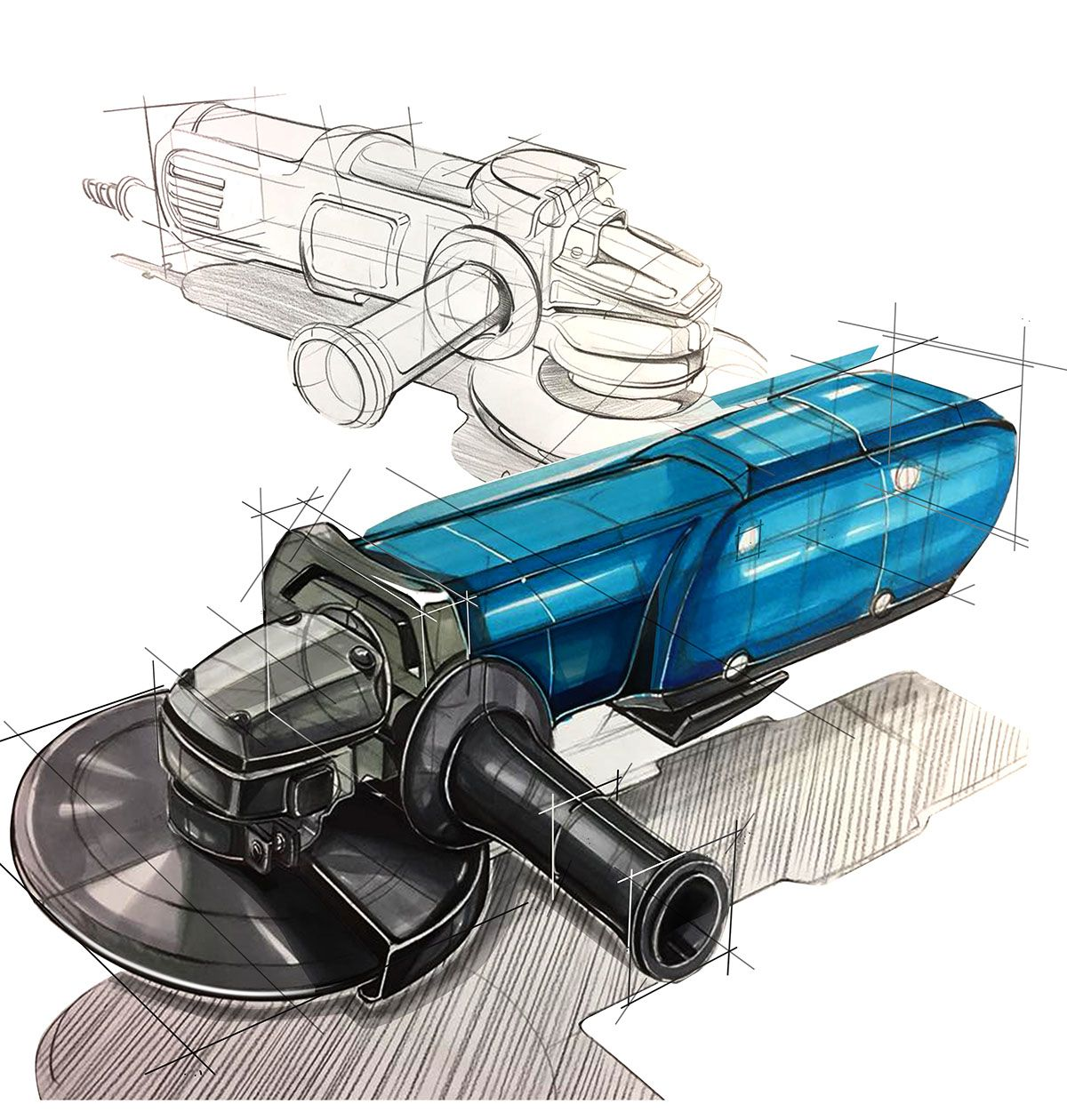Industrail Design Sketch & Marker Rendering Tutorial On