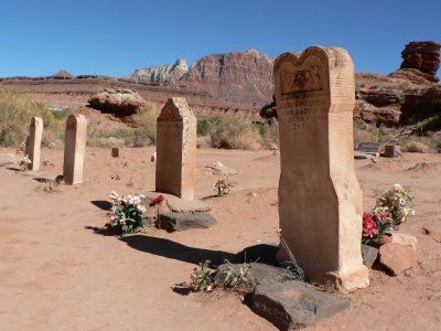 Grafton, Utah, Ghost Town. The Grafton Cemetery is a few hundred meters from the town. Grafton is a ghost town, just south of Zion National Park in Washington County, Utah, United States. Said to be the most photographed ghost town in the West
