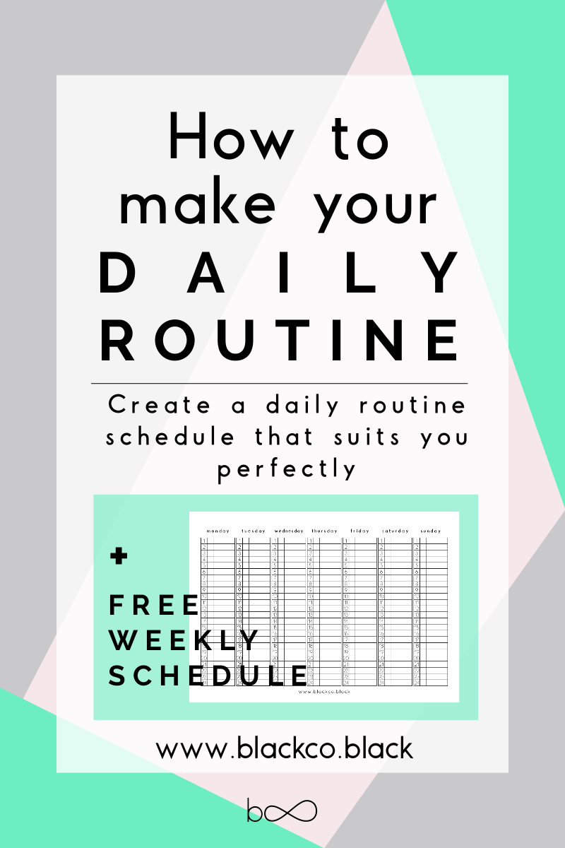 How to make your Daily Routine | Daily routine schedule and Weekly ...