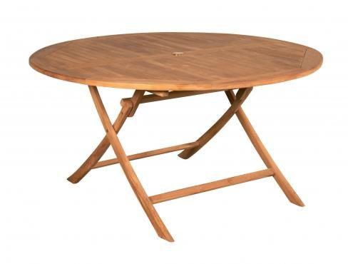 Table pliante Saar - Overstock Garden Mobilier de jardin