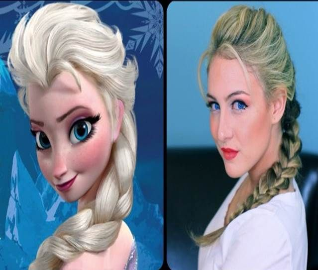 elsa hair style disney hairstyle frozen elsa show your disney side 1554